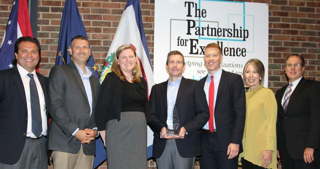 Award recipients honored for organizational excellence at the 2018 Quest for Success Conference by The Partnership for Excellence