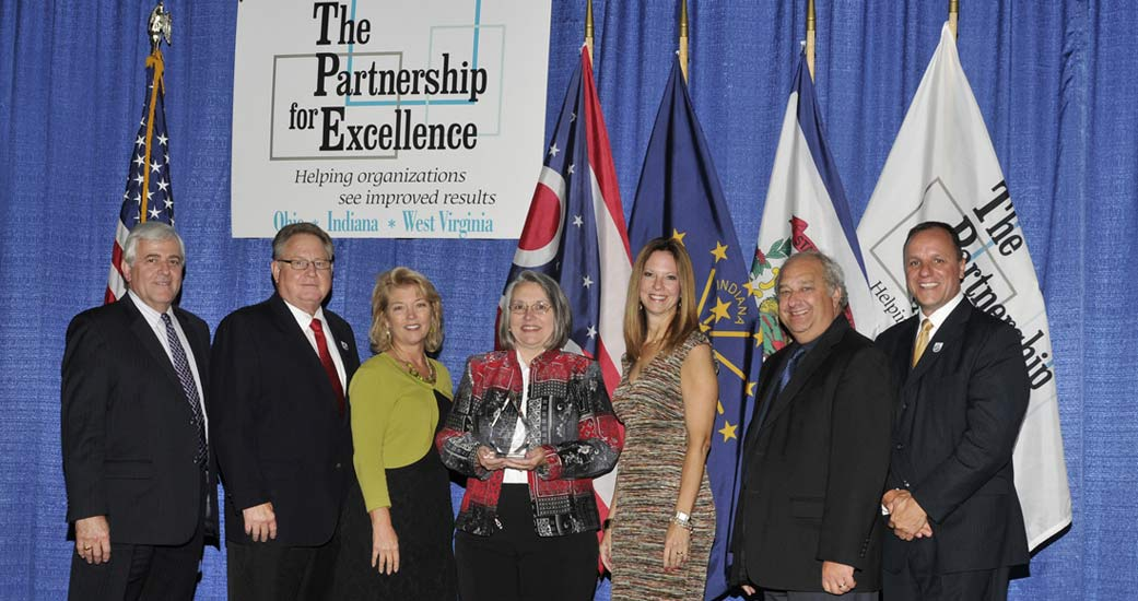 Award recipients honored for organizational excellence using the Baldrige process at the 2015 Quest for Success Conference by The Partnership for Excellence